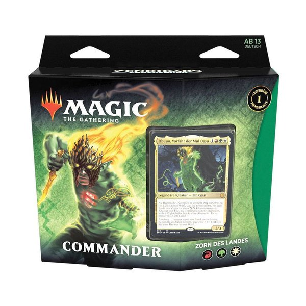 MTG: Magic the Gathering - Zendikars Erneuerung Commander-Deck - Zorn des Landes - (DE)